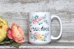 Grandma - Hummingbird - Watercolor flowers - 11oz or 15oz Coffee Mug - Gift for Grandma - Inspirational Gift - Watercolor Mug - Bird Mug