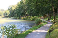 """Le sentier accessible aux PMR (Personnes à Mobilité Réduite) longe les étangs 1 et 2, près des pagodes chinoises et du Boterham. Ce sentier donne aussi accès à la Brasserie La Chevetogne et à la Plaine de jeux """"pieds et mains dans l'eau"""""""