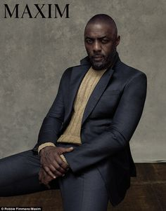 Maxim magazine goes luxe for its September 2015 cover photo shoot. The first male to grace the cover of Maxim, British actor Idris Elba is front and center in a… Idris Elba, Black Is Beautiful, Gorgeous Men, Beautiful People, Solo Male, Maxim Magazine, The Fashionisto, Hommes Sexy, Man Up