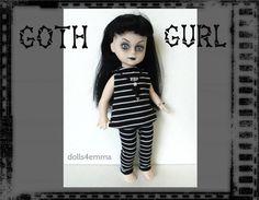 Living Dead Doll Clothes   Goth Gurl Dress  Leggings by DOLLS4EMMA