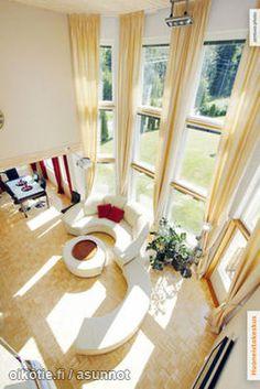 Valoisa ja avara olohuone / A light and spacious living room
