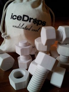 iceDrops Nuts & Bolts Ceramic Whiskey Stones by chilliceDrops, $43.95.... Waaaay too cool, if you'll excuse the pun