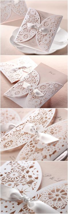 2015 Trending Elegant Laser Cut Wedding Invitations