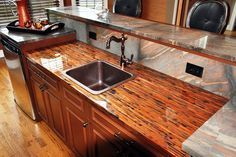 Epoxy Countertops: Works on: Wood, Concrete, Granite, Copper, Stainless Steel, Laminate, Cork, Formica, Quartz, Bamboo and Corian.