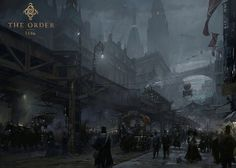 """ Concept art for ""Neo-Victorian"" London from upcoming game The Order: via Concept Art World. Victorian London, Neo Victorian, Victorian Steampunk, Steampunk Images, Steampunk Artwork, Ville Steampunk, Steampunk City, Steampunk Kunst, Star Citizen"