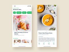 Food App by Ayush Jangra for Bruvvv on Dribbble Design Food, Web Design, App Ui Design, User Interface Design, App Design Inspiration, Design Android, Creation Site, Mobile App Ui, Order Food