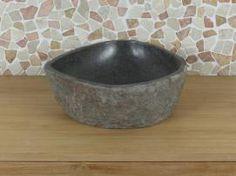 Waschschale aus Flussstein 3, 41.5*31.5*15 cm.