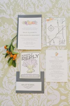 Heirloom Harvest Wedding Suite #vintage #wedding #invitation