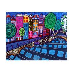 Amsterdam Art Poster Print of Painting by HeatherGallerArt on Etsy, $15.00