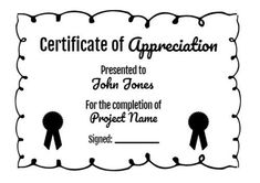 Design this bold black and white outline certificate of appreciation by simply clicking on the template. Certificate Of Appreciation, Name Signs, Outline, Templates, Black, Design, Stencils, Black People, Name Labels