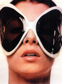 Space Age Hublots by Pierre Cardin. Twiggy, Pierre Cardin, Sunglasses Outlet, Ray Ban Sunglasses, Sports Sunglasses, Sunglasses Women, Sunglasses Storage, Fly Costume, Costumes