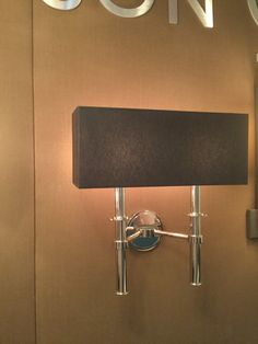 Two arm wall sconces, one rectangle shade or two single cylinder shades