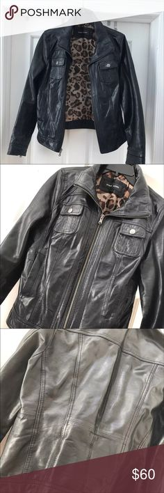 Black river -Wilson leather jacket Super Cute originally spent 500 from Wilson leather . Used gently . Genuine leather . Has two small marks only noticeable up close as seen in photos Wilsons Leather Jackets & Coats Utility Jackets