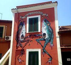 Veks Van Hillik street art in Rome
