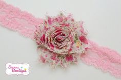Choose style floral shabby Headband baby girl headband single headband pink headband