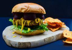 Spiced Chickpea, Carrot and Coriander Burgers (vegan recipe)