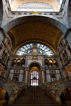 Antwerp's Centraal Train Station, Belgium