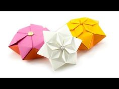 Origami Hexagonal Puffy Star Tutorial Learn how to fold a beautiful hexagonal origami puffy star! These origami stars can be hung as decorations or displayed as they are. The neat thing about these stars is that the pop out from being a flat tato/coaster! Origami Mouse, Origami Fish, Origami Dragon, Dollar Origami, Origami Ball, Origami Love Heart, Origami Star Box, Origami Stars, Origami Design