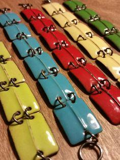 Delicious colors! Enamel bracelets by Karen Smith Metalwear www.ksmetalwear.com