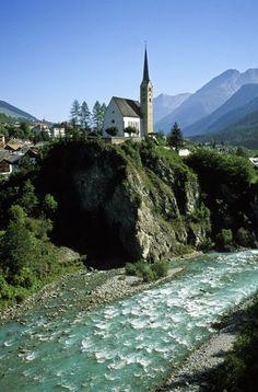Village of #Scuol, Switzerland