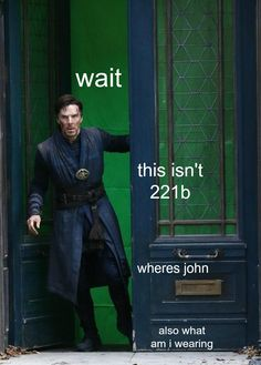 Benedict Cumberbatch as Sherlock and Doctor Strange Sherlock Fandom, Sherlock Bbc, Watson Sherlock, Jim Moriarty, Sherlock Quotes, Doctor Strange, Dr Strange 2, Benedict Cumberbatch, Lol Memes