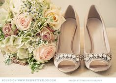 Beautiful shoes to match a beautiful bouquet #weddingshoes #pastelwedding #weddingbouquet @Four Seasons Bridal