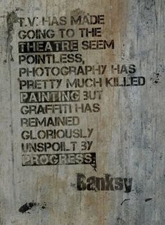 Jaxson Rea Banksy Quote by Banksy (Giclee Canvas) art art graffiti art quotes Banksy Quotes, Graffiti Quotes, Graffiti Writing, Banksy Graffiti, Bansky, Banksy Artwork, Street Art Quotes, Street Art Banksy, Urban Street Art