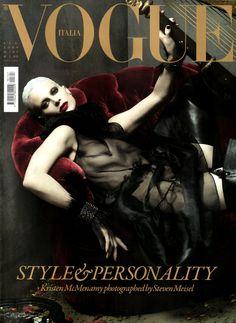Kristen McMenamy by Steven Meisel Vogue Italia July 2009