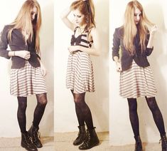 Roses and Stripes *.~ (by Jenn Potter) http://lookbook.nu/look/1839472-Roses-and-Stripes