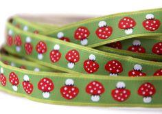 woven ribbon 'mushrooms' by ByBora on Etsy, $2.70