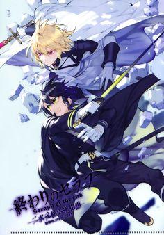 Mika and Yu - Owari no Seraph - Seraph of the End All Anime, Me Me Me Anime, Anime Guys, Manga Anime, Anime Art, Mika Hyakuya, Tamako Love Story, Image Manga, Seraph Of The End