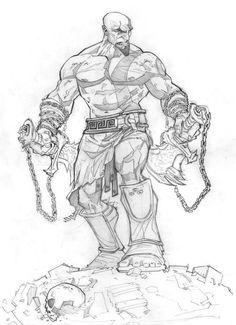 Kratos - God of War by Patrick Brown *