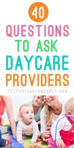 What questions should you ask a daycare provider? When touring and interviewing daycares, make sure you come armed with a list of questions to ask. I've come up with a full list of questions so you can ask away! Questions To Ask Daycare, Kids Questions, What If Questions, This Or That Questions, Baby Hacks, Baby Tips, Mom Hacks, Baby Ideas, Home Daycare