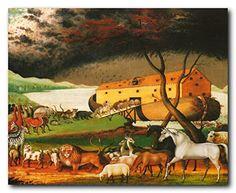 Noah's Ark By Edward Hicks Religious Kids Room Wall Decor... https://www.amazon.com/dp/B01C4AJEZK/ref=cm_sw_r_pi_dp_x_di8pybFBG3BAY