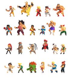 Pixelated Street Fighters by Vic Nguyen