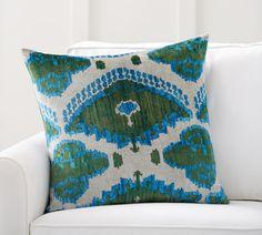 Audrey Ikat Printed Velvet Pillow Cover