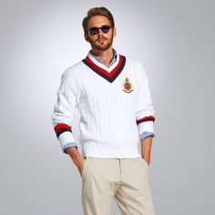 Very Country Club look.... For the golf matches he doesnt play! Lol Tommy Hilfiger Molton Sweater