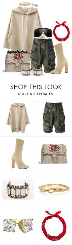 """""""5ThGenerationFashion.Tumblr.Com"""" by stylebywho ❤ liked on Polyvore featuring Faith Connexion, adidas, Gucci, Givenchy, Aurélie Bidermann and New Look"""