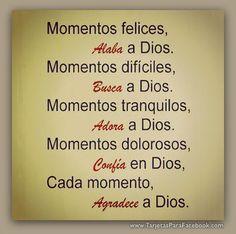 agradece a Dios en todo tiempo