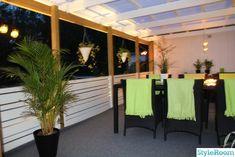 Altan staket vindskydd - En klippbok om inredning Patio, Outdoor Decor, Image, Home Decor, Pictures, Terrace, Interior Design, Home Interior Design, Home Decoration