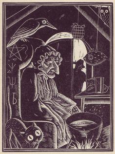 (Alan?) Bold from Walter De La Mare's  Broomsticks & Other Stories via http://50watts.com/