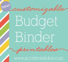 Customizable Budget Binder... I LOVE this...love budgeting, love cute things. @Brittany Horton Horton Horton Moody Nicole and @Kelly Teske Goldsworthy Teske Goldsworthy Teske Goldsworthy Teske Goldsworthy L we are so making these and tracking in our excel sheets!