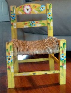 I still have my little chair....got it when I was 4....it's a piece of art in my kitchen, now.