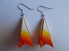 Instructables tutorial for Ombre Paper Earrings