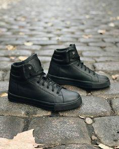 Купить Кожаные темно-синие ботинки на меху (M) в интернет-магазине обуви  Lapti d2d1df36e1d