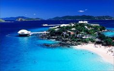Coki beach - St. Thomas USVI @jean we hv to go there and snorkel!  They sell dog biscuits to feed the fish!!