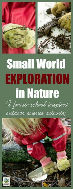 Forest School Outdoor Science Activity: Small World Exploration. A forest-school inspired outdoor learning session for preschoolers from Rain or Shine Mamma. Forest School Activities, Nature Activities, Kids Learning Activities, Science Activities, Preschool Science, Science Ideas, Outdoor Learning Spaces, Outdoor Education, Outdoor Activities For Kids