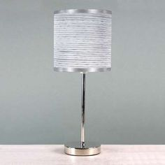 Ripple Chrome Stick Lamp | Dunelm