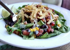 BBQ Chicken Salad {best salad ever!} - I Heart Nap Time | I Heart Nap Time - Easy recipes, DIY crafts, Homemaking