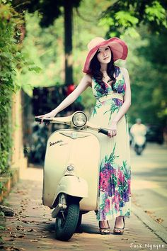 "#ridecolorfully fabulously to a garden party on my #katespadeny #vespa! - Photo ""Welcome to my day! [EXPLORED]"" by Jack Nguyen Studio, via Flickr"